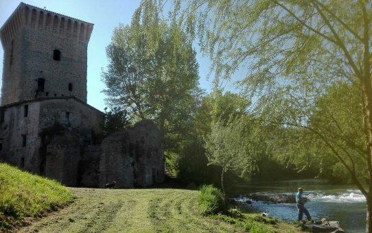 Pretola vista dal Tevere: gli antichi lavori del fiume